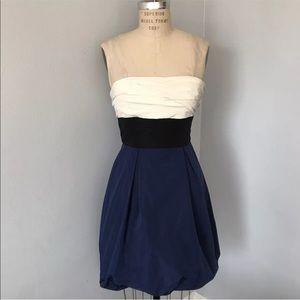 Bebe strapless bubble prom dress